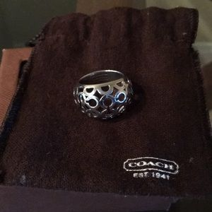 Coach Silver Ring sz 7